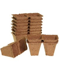 Romberg Biodegradable Pots 20 pc. square (Ø 6cm)