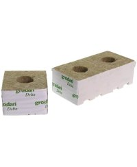 Grodan Rockwool Blocks Large Hole 10 x 10cm  (6 pcs)