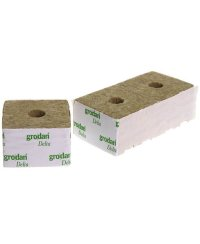 Grodan Rockwool Blocks Small Hole 10 x 10cm  (6 pcs)