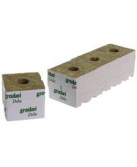 Grodan Rockwool Blocks Small Hole 7,5 x 7,5cm (48 pcs)