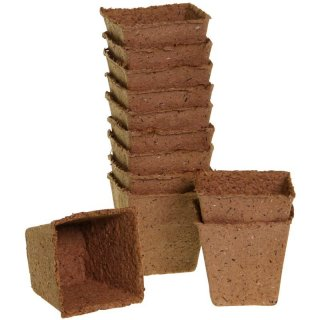 Romberg Biodegradable Pots 12 pc. square (Ø 8cm)