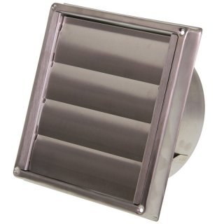 Ventilation-Shutter Stainless Steel Outdoor 125mm