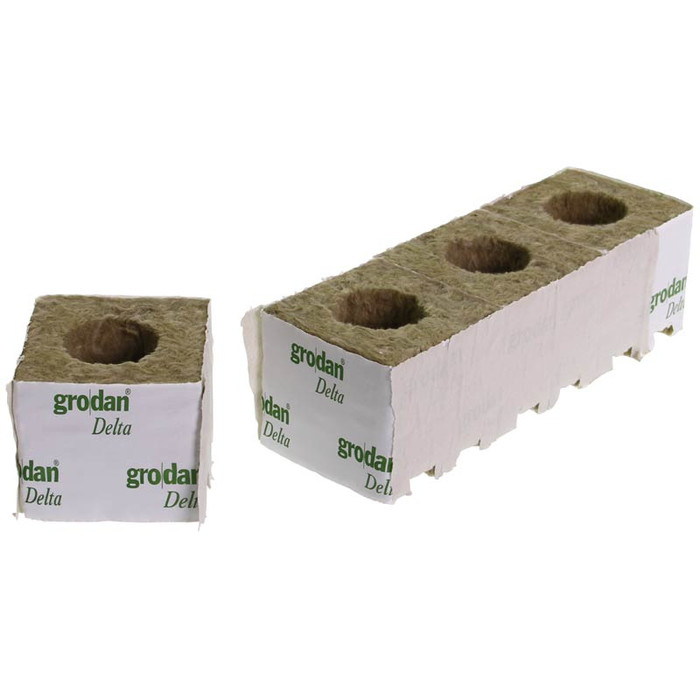Grodan Rockwool Blocks Large Hole 7,5 x 7,5cm (8 pcs)