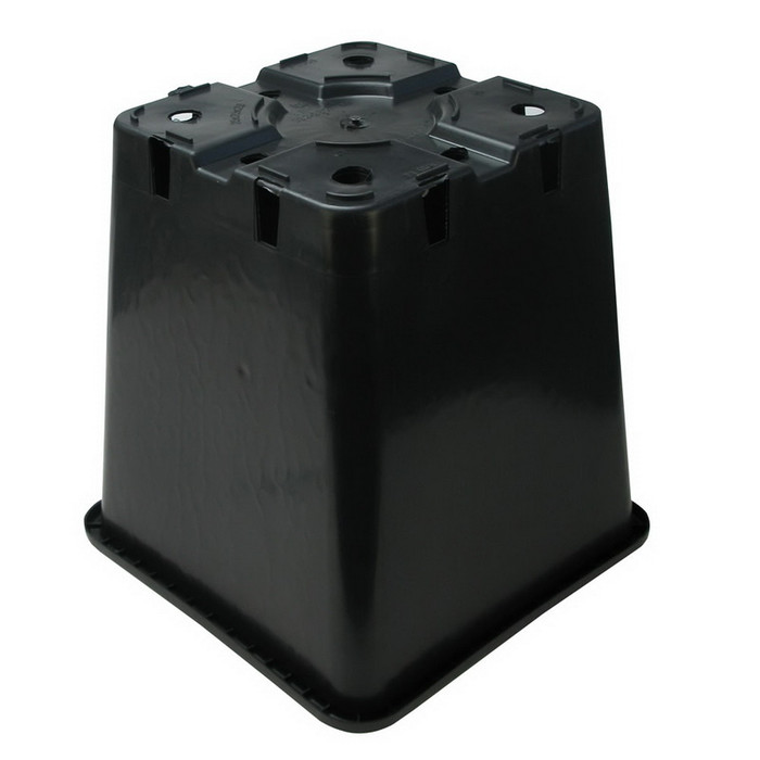 Square Pot 25 x 25 x 25,5 cm Black (11L)