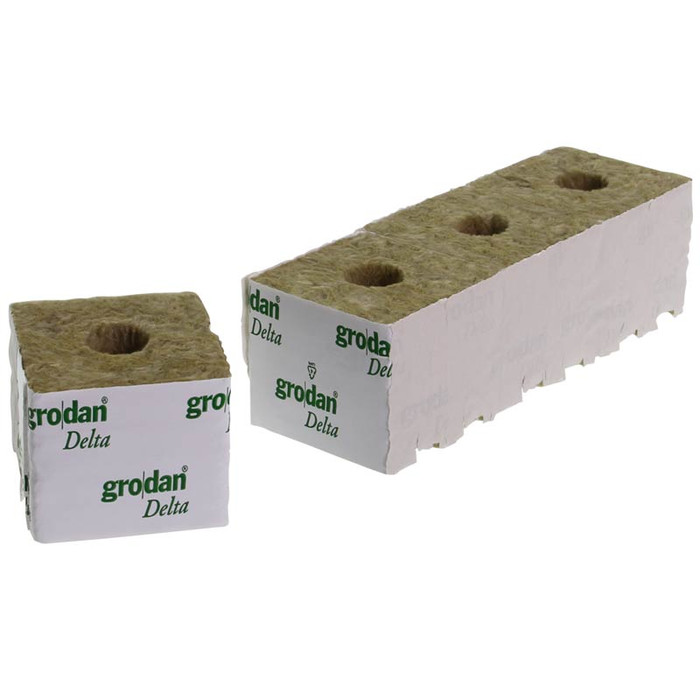 Grodan Rockwool Blocks Small Hole 7,5 x 7,5cm (96 pcs)