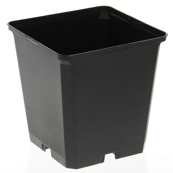 Square growing pots 0,27 - 2 litres