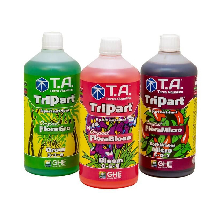GHE TriPart Set soft water 1L, 5L, 10L (Flora Series)