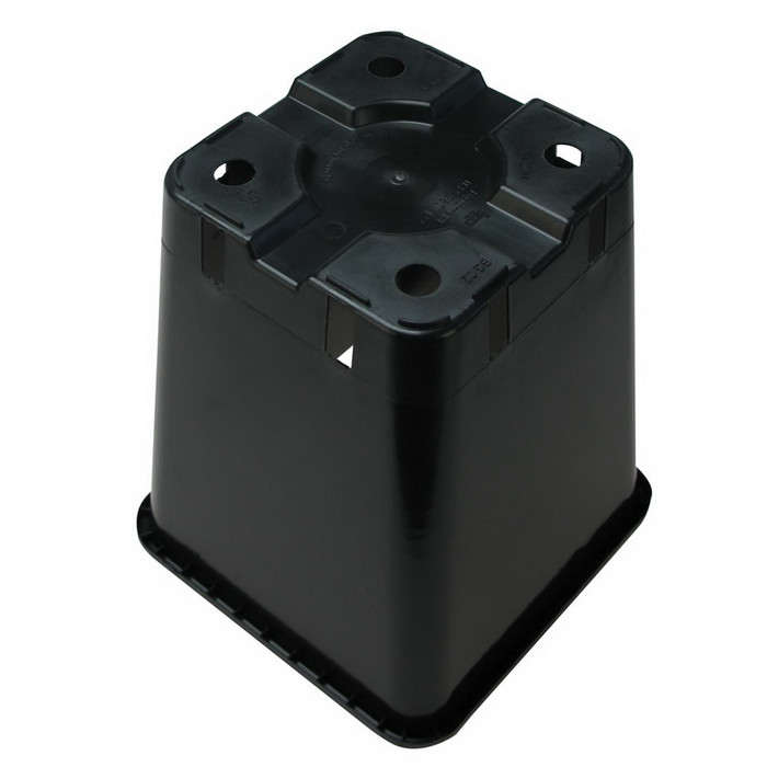Square Pot 20 x 20 x 23 cm Black (5,7L)